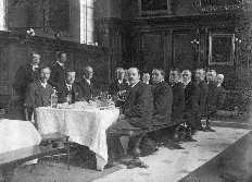Benchara Branford at meeting of Schools Inspectors, St John's College, Oxford, 1905.